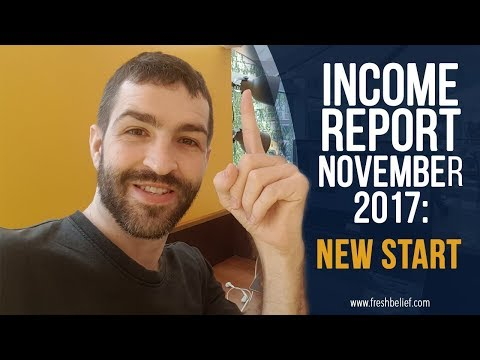 Monthly Blog November Income Report 2017