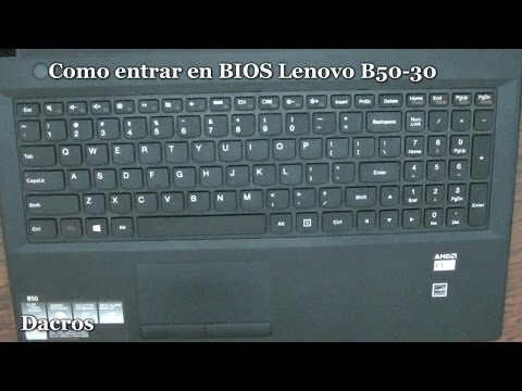 Como entrar en BIOS Lenovo B50-30