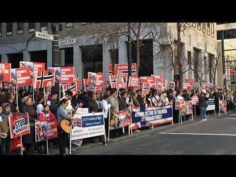 Protestul de la San Francisco. Februarie 13, 2016