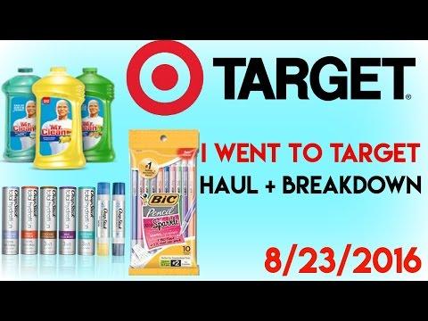 I Went to Target 8/23/2016/Haul + Breakdown