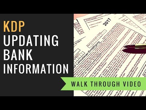 How To Update Bank and Royalty Payment Information for KDP