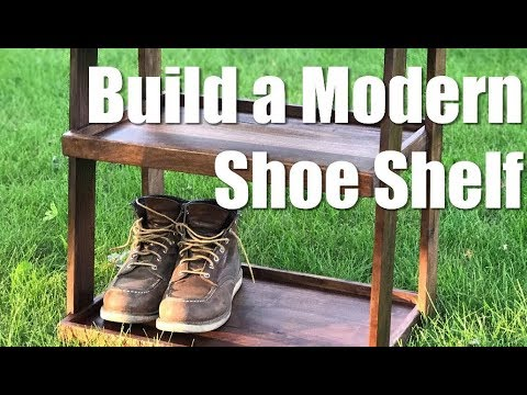 Build a modern shoe shelf/ shoe rack