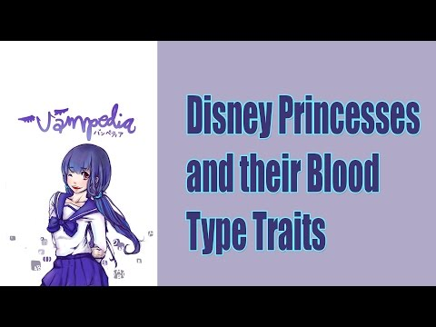 Disney Princesses and their Blood Type Traits