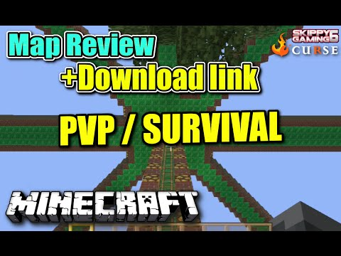 MINECRAFT - PS3 - SURVIVAL PVP MAP REVIEW + DOWNLOAD LINK ( PS4 )  SERVER UPDATE