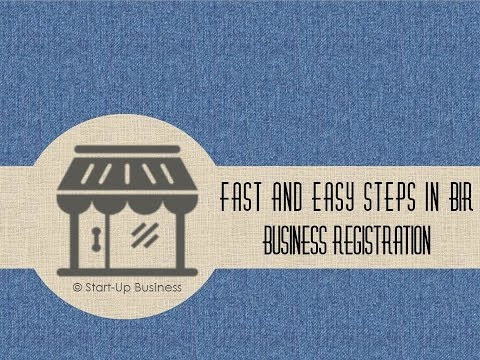Start-UP Business: Fast and easy Steps in BIR Business Registration