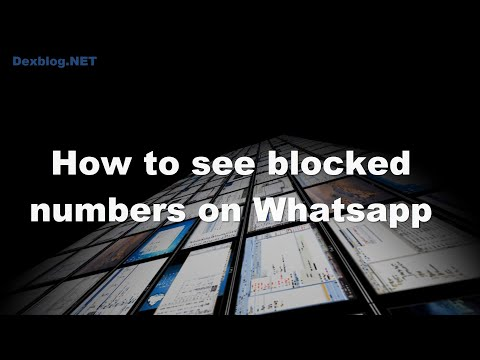 How to see blocked numbers on Whatsapp
