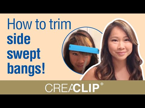 How to trim side swept bangs!