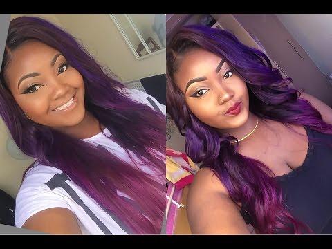 HOW I COLOURED(BLEACH+DYE) MY PURPLE HAIR (JUSTINE SKYE INSPIRED) | MODERN SHOW HAIR