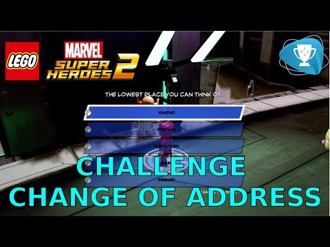 Lego Marvel Super Heroes 2 - Change of Address Challenge All New Home Locations