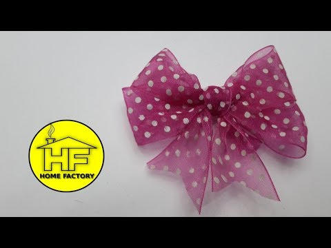 How to make bow - PINK BOW