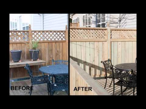 Raleigh Condominium deck with privacy screen