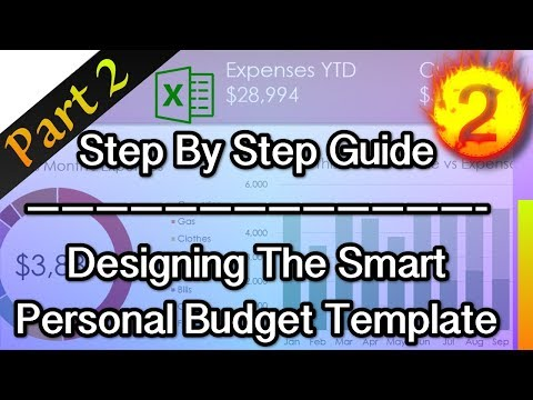 Excel Tutorial | Design The Smart Personal Budget Template - Part 2