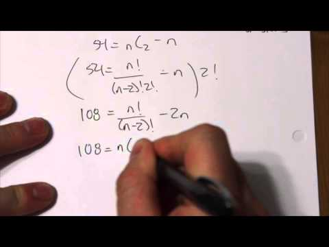Solving the Number of Sides given the Diagonals problem