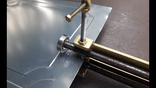Homemade Sheet Metal Pressing Tool   Sheet Metal Press   Door Decor