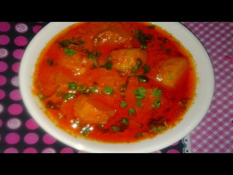 Kashmiri Dum Aloo/Curry Recipe/Chilly and Potatoes/FoodChenBySana