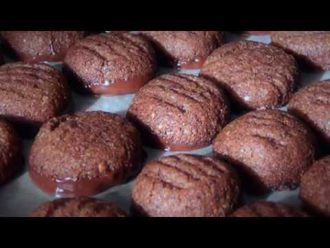 Chocolate Dipped Mocha Hazelnut Cookies