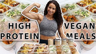 EASY High-Protein VEGAN Meal Prep   Cook With Me