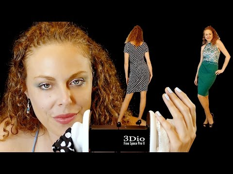 Up Close Whispering & 3Dio Ear Massage for Sleep, ASMR Fabric Sounds, Fashion Haul & Try On