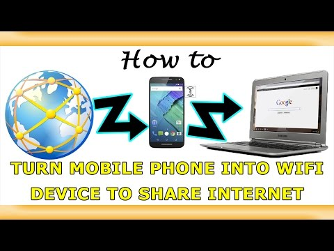 Share Mobile Internet with Computer & Other Wireless Devices