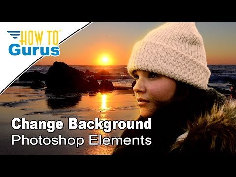 How to use a Layer Mask to Change the Background in Adobe Photoshop Elements 2018 15 14 13 Tutorial