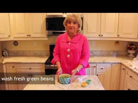Green Beans Steamed in Microwave with Cuchina Safe Lid