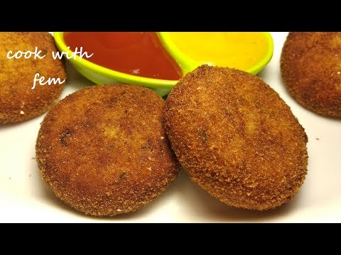 Chicken Cutlet Recipe - Ramzaan Special Recipe | चिकन कटलेट रेसिपी - With English Subtitles