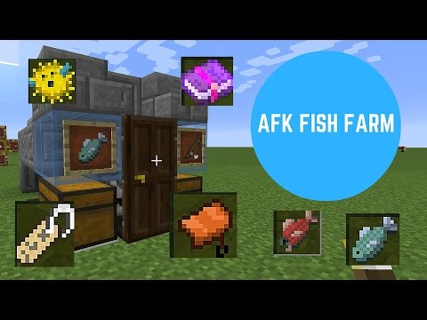 Minecraft 1.10 - How to build an AFK fish farm - Redstone tutorials #1