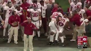 Alabama Player tries to Punch Coach | 2018 CFP National Championship