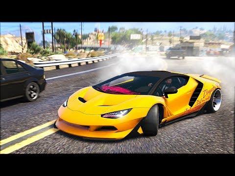 INSANE DRIFT LAMBORGHINI CENTENARIO - WIDEBODY GTA 5 DRIFT MOD