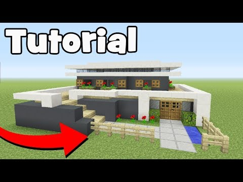 Minecraft Tutorial: How To Make A Easy Modern House!