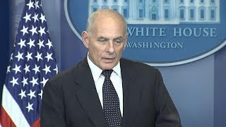 White House press briefing: Chief of Staff John Kelly on how military deals with soldiers