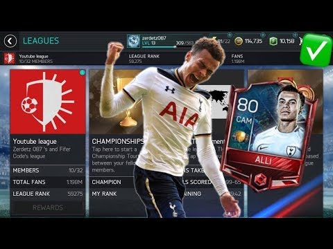 HOW TO GET LEAGUE MASTER DELE ALLI QUICKLY!!! APPLY TO THE LEAGUE FAST ~ FIFA MOBILE SEASON 2