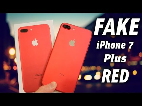 FAKE Red iPhone 7 Plus - Buyers Beware 1:1 Clone!