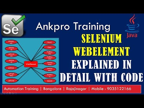 Selenium with Java 15 - WebElement interface all methods explained in detail with code examples