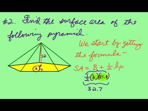 Finding the surface area of a pentagonal pyramid