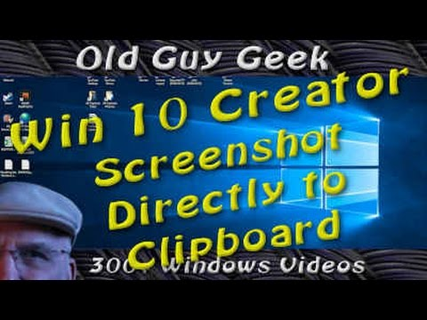 Windows 10 Creators Update - Take Screenshot Directly To Clipboard