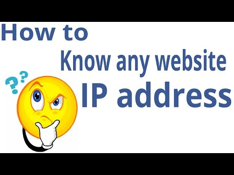 How to know any website ip address