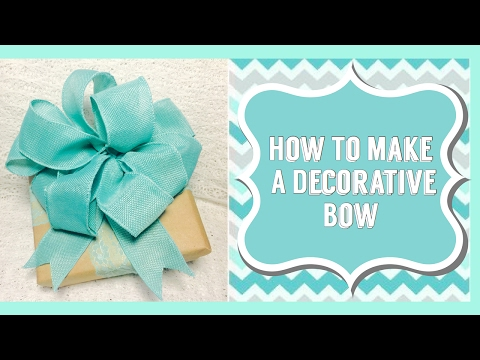 Make A Bow For A Present, Vase, Wreath or Gift Basket| Add To Any Valentine's Day Gift