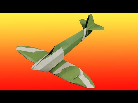 Spitfire Paper Airplane