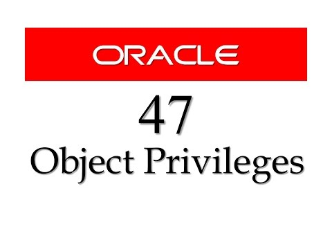 SQL tutorial 47: How to Grant Object Privileges With Grant Option in Oracle Database
