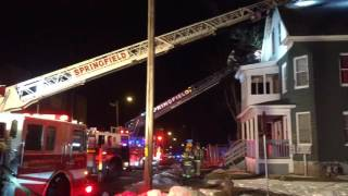 Fire damages house in Springfield