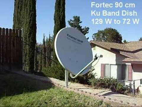 FTA Satellite Dish Sweeping The Sky for TV DX!