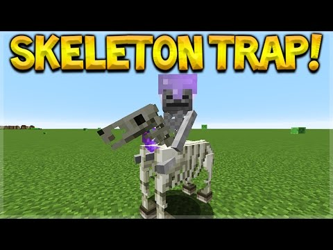 SKELETON HORSE TRAP! Minecraft Console Edition - NEW Skeleton Horsemen Mob