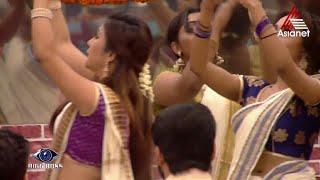 Big Boss Thiruvathira Kali Pearly Maaney Hot Saree Navel Video