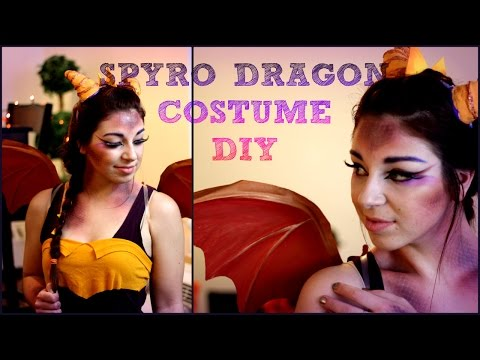 Easy DIY Halloween Costume: Spyro the Dragon