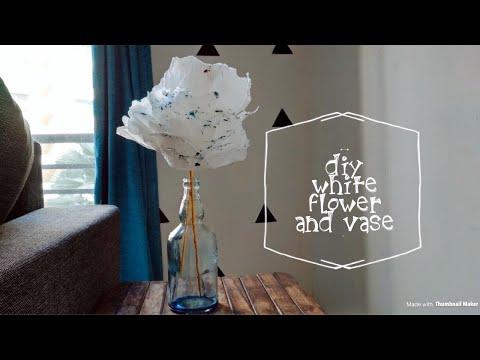 DIY Blue heaven flower vase 🌊
