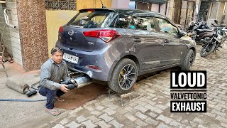 My i20 Getting Loud Valvetronic Exhaust Installed | Exhaust For Hyundai I20 | Musafir's Modified I20