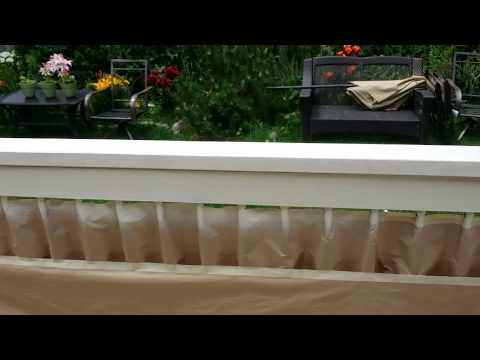 How to stain deck rails