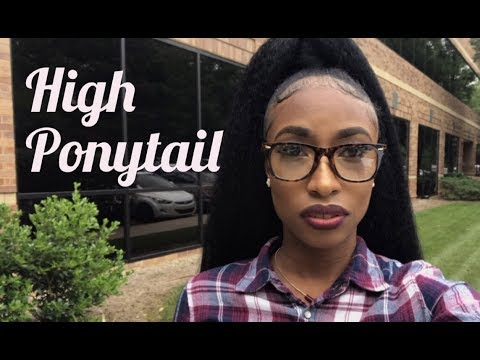 How To: High Ponytail on Short Natural Hair | Using Braiding Hair