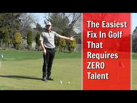 GOLF: The Easiest Fix in Golf That Requires ZERO Talent